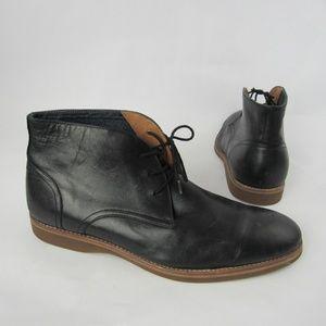 Aldo Chukka Boots Black Leather Shoes
